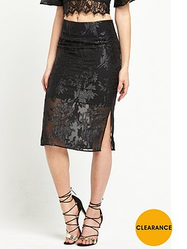 miss-selfridge-floral-sheer-pencil-skirt-black