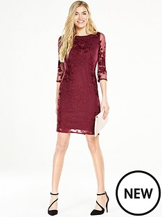 wallis-embroided-lace-shift-dress