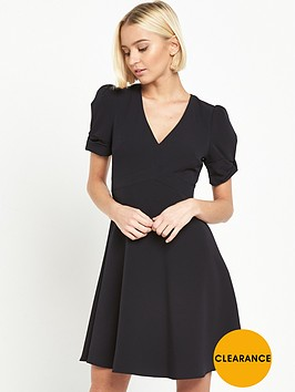 miss-selfridge-bow-sleeve-dress-black
