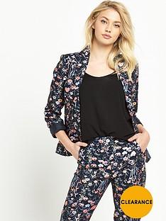 miss-selfridge-bright-floral-jacquard-blazer