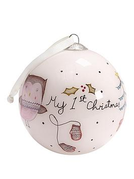 mamas-papas-my-1st-christmas-bauble-pink