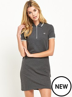 fred-perry-twin-tipped-zip-neck-dress-graphite-marl