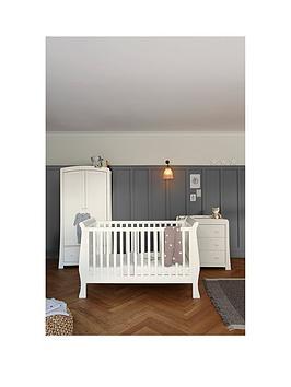Mamas & Papas Mamas &Amp Papas Mia Sleigh Cot Bed Dresser &Amp Wardrobe  Ivory