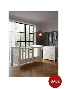 mamas-papas-mia-sleigh-cot-bed-and-dresser-ivory
