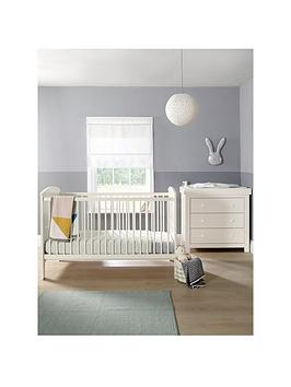 mamas-papas-hayworth-cot-bed-and-dresser--ivory