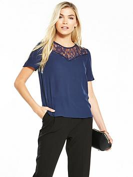 v-by-very-lace-insert-shell-top-navy