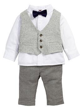 mamas-papas-baby-boys-waistcoat-shirt-trousers-and-bow-tie-set-4-piece