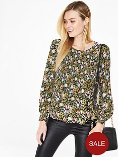 v-by-very-shirrednbspdetail-floral-blouse