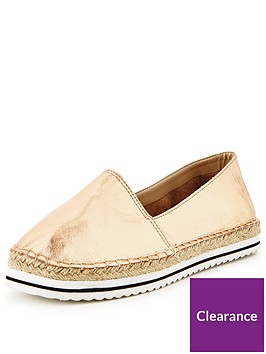 v-by-very-bebe-sport-stripe-espadrille-rose-gold