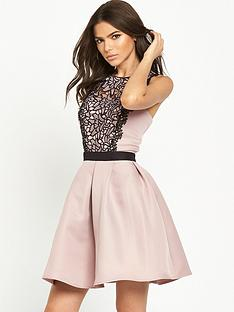 little-mistress-lace-detail-skater-dress