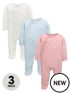 mamas-papas-3pk-pink-sleepsuits