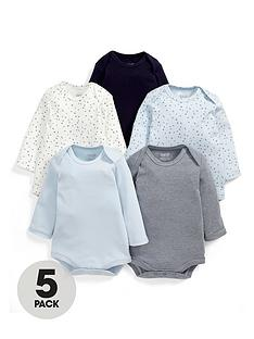 mamas-papas-baby-bodysuit-set-5-piece