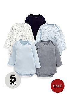 mamas-papas-baby-bodysuit-set-5-piece
