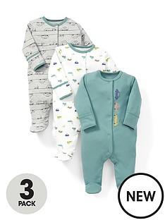 mamas-papas-3pk-cars-sleepsuits