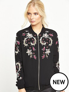 little-mistress-black-embellished-bomber