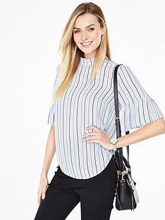 v-by-very-high-neck-pleat-sleeve-blouse