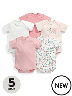 mamas-papas-baby-girls-floral-bodysuits-5-pack