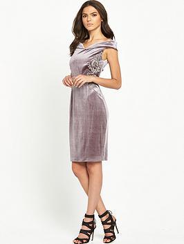 little-mistress-on-the-shoulder-embroidered-velvet-bodycon-dress-mink