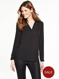 v-by-very-v-neck-pocket-blouse
