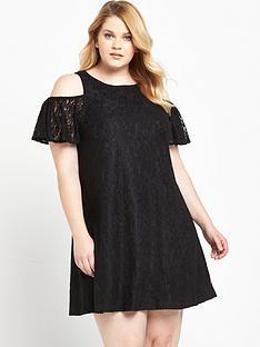 ax-paris-curve-cold-shoulder-lace-dress-black