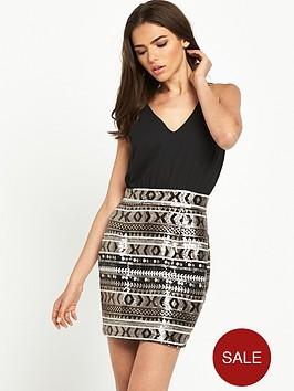 ax-paris-2-in-1-mini-sequin-skirt-dress-black