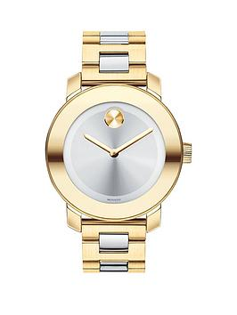movado-bold-silver-dial-gold-tone-bezel-stainless-steel-ladies-watch