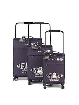 Zframe 8 Wheel 3 Piece Luggage Set  Purple