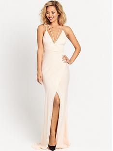 myleene-klass-strappy-back-maxi-dress-champagne
