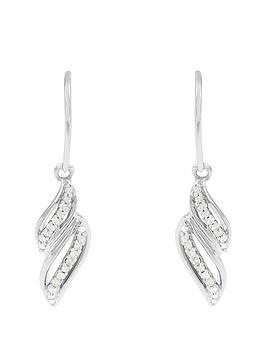 love-diamond-9ct-white-gold-15-point-white-diamond-twist-drop-earrings