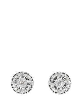 love-diamond-sterlingnbspsilver-rhodium-plated-25-point-diamond-cluster-stud-earrings