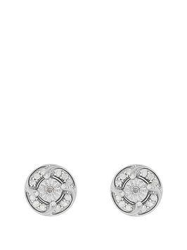love-diamond-sterlingnbspsilver-rhodium-plated-25-point-diamond-cluster-stud-earrings