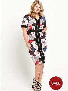 lovedrobe-zip-front-printed-dress