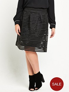 lovedrobe-high-waist-bandage-skirt-black