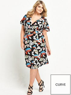lovedrobe-wrap-front-print-dress