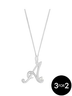 love-silver-sterling-silver-cubic-zirconia-initial-pendant