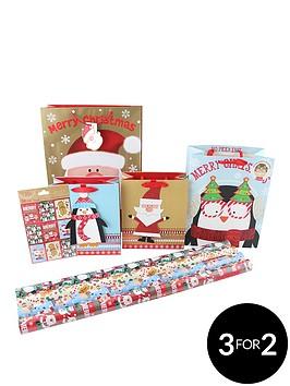 cute-children039s-8-piece-christmas-gift-wrap-bundle