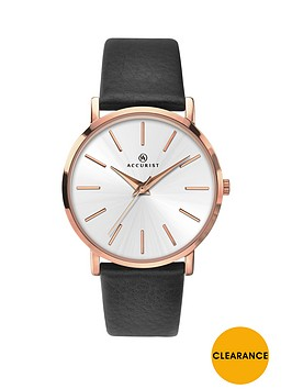 accurist-silver-dial-rose-tone-case-black-leather-strap-ladies-watch