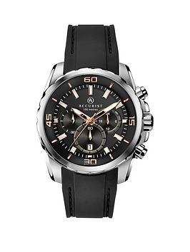accurist-black-dial-black-silicone-strap-mens-watch
