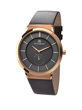 accurist-black-dial-brown-leather-strap-mens-watch