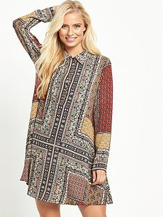 glamorous-printed-shirt-dress