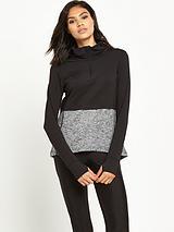 Ri Active Double Layer Blocked Zip Sweater
