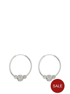 the-love-silver-collection-sterling-silver-lightweight-25mm-hoops-with-triple-crystal-glitter-balls