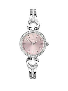 seksy-pink-dial-silver-tone-ladies-watch