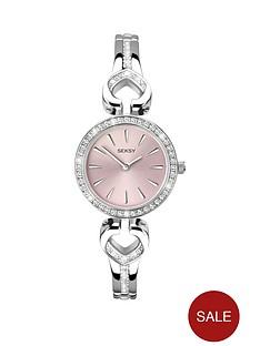 seksy-pink-dial-silver-tone-ladies-watch