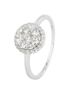the-love-silver-collection-sterling-silver-cubic-zirconia-cluster-ring