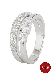 love-silver-sterling-silver-cubic-zirconia-split-band-trilogy-ring