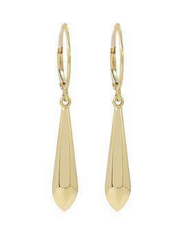 love-gold-9ct-gold-drop-earrings
