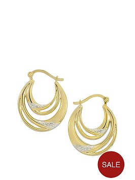 love-gold-9ct-gold-double-hoop-earrings-with-white-rhodium-highlights