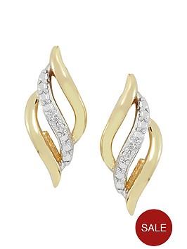love-gold-9ct-gold-cubic-zirconianbsplattice-earring