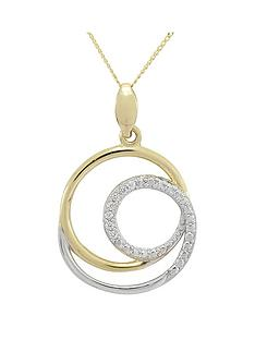 love-gold-9ct-gold-cubic-zirconia-circle-pendant-with-white-rhodium-highlights